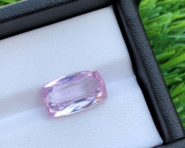 GGI lab certified natural kunzite, 5.62 carats