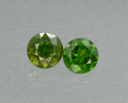 1.07 Cts Natural Demantoid Pair Top Green Color Gemstones.