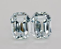 27.30  Carat Natural Emerald Cut Pair  Aquamarine Gemstone