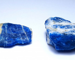 Beautiful lovely Natural color two Rough Sodalite 72Cts-A