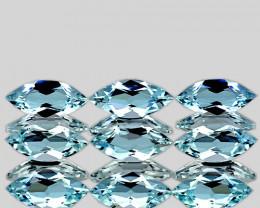 6x3 mm Marquise 9 pcs 1.77cts Light Blue Aquamarine [VVS]