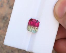 2.55 Ct Natural Bi Color Transparent Tourmaline Gemstone