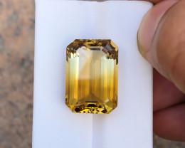 18.40 Ct Natural Bi Color Transparent Citrine Gemstone