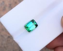 1.65 Ct Natural Blueish Green Transparent Tourmaline Gemstone