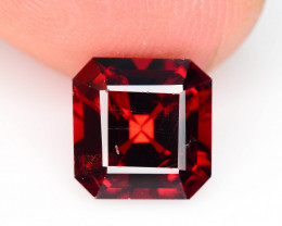 Top Asscher Cut 3.20 ct Red Blood Color Garnet For Ring