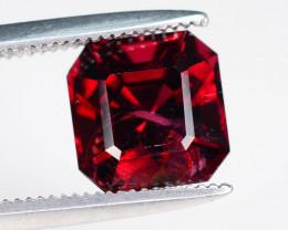 Open Color 2.75  ct Asscher Cut Red Garnet Perfect For Ring