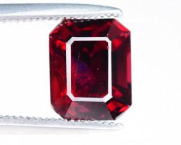 Asscher 3.00 ct Red Garnet Ring Size