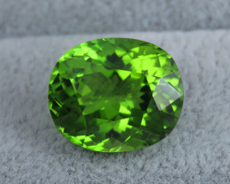 IF 10.50 CT Natural Beautiful Green Color Oval Shape Peridot From Pakistan