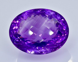 35.30 Crt Natural  Amethyst Faceted Gemstone.( AB 25)