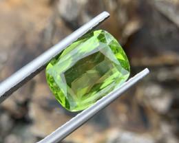 2.65 carat Natural Peridot Ring.