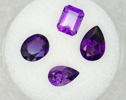 Amethyst Parcel – 5.66 Cts TW - Natural Gemstone – Oval, Pear,  Step Cut –