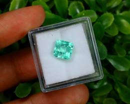 2.07Ct Colombian Muzo Emerald Neon Mint Green Beryl A1606