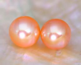 8.3mm 7.81Ct Natural Australian South Sea Orange Color Pearl A1608