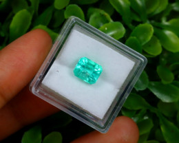 2.09Ct Colombian Muzo Emerald Neon Mint Green Beryl A1609