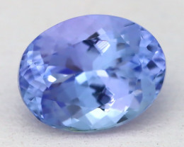 Tanzanite 2.19Ct VVS Oval Cut Natural Purplish Blue Tanzanite A1610