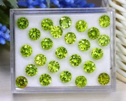 18.26Ct Round Cut Natural Pakistan Neon Green Peridot Lot Box A1611