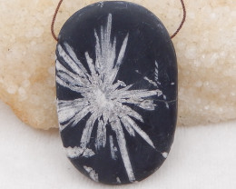 312cts natural chrysanthemum fossil gemstone pendant, chrysanthemum fossil