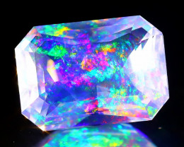 1.95Ct ContraLuz Square Cut Mexican Very Rare Species Opal A1614