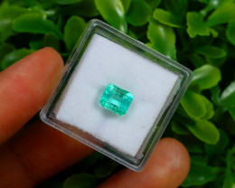 1.23Ct Colombian Muzo Emerald Neon Mint Green Beryl A1615