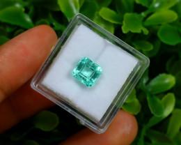 1.81Ct Colombian Muzo Emerald Neon Mint Green Beryl A1618