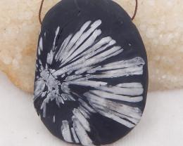 400.5cts natural chrysanthemum fossil gemstone pendant, chrysanthemum fossi
