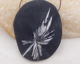 481cts natural chrysanthemum fossil gemstone pendant, chrysanthemum fossil