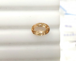 1.72 Cts Natural Peach Pink Morganite Oval Cut Brazil