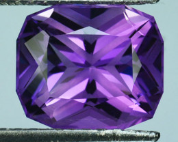 ~CUSTOM CUT~ 5.58 Cts Natural Purple Amethyst Fancy Cushion Bolivia