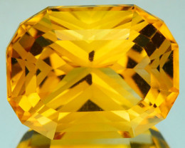 ~CUSTOM CUT~ 5.50 Cts Natural Golden Orange Citrine Fancy Cushion Brazil