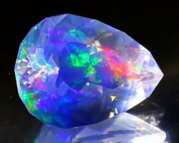 3.49Ct ContraLuz Square Cut Mexican Very Rare Species Opal A1625