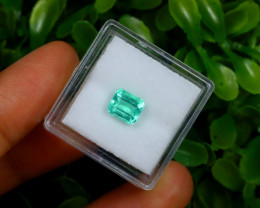 1.12Ct Colombian Muzo Emerald Neon Mint Green Beryl A1627