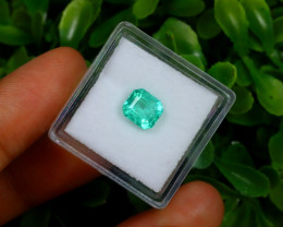 1.18Ct Colombian Muzo Emerald Neon Mint Green Beryl A1633
