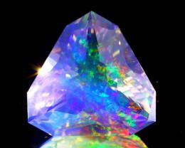 5.36Ct ContraLuz Precision Cut Mexican Very Rare Species Opal A1637