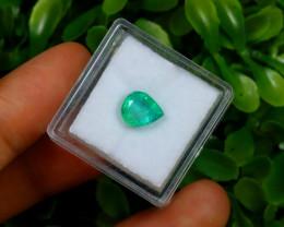 1.56Ct Colombian Muzo Emerald Neon Mint Green Beryl C1501