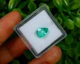1.43Ct Colombian Muzo Emerald Neon Mint Green Beryl C1502