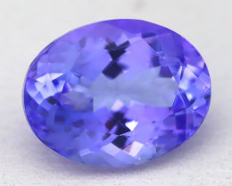 2.08Ct VVS Oval Cut Natural Vivid Purplish Blue Tanzanite C1503