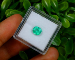 0.90Ct Colombian Muzo Emerald Neon Mint Green Beryl C1515
