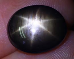 6.83Ct Natural Thailand Golden Black Star Sapphire C1519