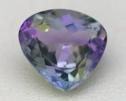 1.94Ct VVS Pear Cut Natural Unheated BiColor Peacock Tanzanite C1521