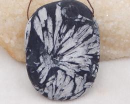 445.5cts natural chrysanthemum fossil gemstone pendant, chrysanthemum fossi