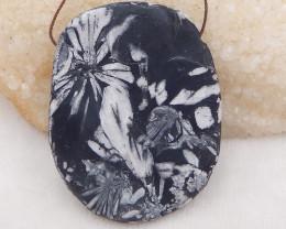 382.5cts natural chrysanthemum fossil gemstone pendant, chrysanthemum fossi