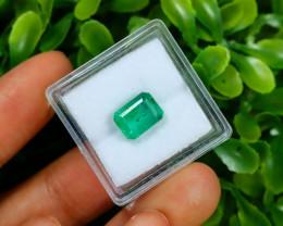 2.41Ct Octagon Cut Natural Zambian Green Emerald C1525
