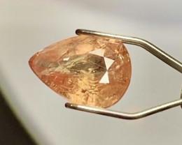 1.35ct Pinkish Orange Sapphire - UNHEATED / Tanga / 8.0 x 6.0mm