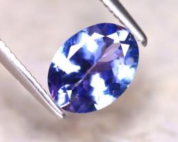 Tanzanite 1.00Ct Natural VVS Purplish Blue Tanzanite D1517/A45
