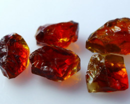 NR!!! 25.80 Cts Natural & Unheated~ Orange Citrine Rough Lot