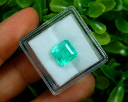 2.98Ct Colombian Muzo Emerald Neon Mint Green Beryl B1701