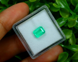 1.14Ct Colombian Muzo Emerald Neon Mint Green Beryl B1704