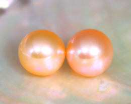 8.2mm 7.63Ct Natural Australian South Sea Orange Color Pearl B1707