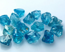 NR!!! 50.20 Cts Natural ~ Blue Zircon Rough Lot