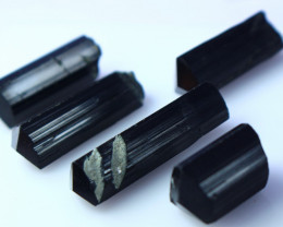 NR!!! 153.40 Cts Natural & Unheated~ Black Tourmaline Crystal Lot